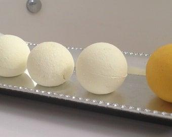 Lemon Creme Bath Bomb/Citrus Vanilla Bath Bomb/Bath Fizzies/Lush