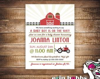 Farm Theme Baby Shower Invite