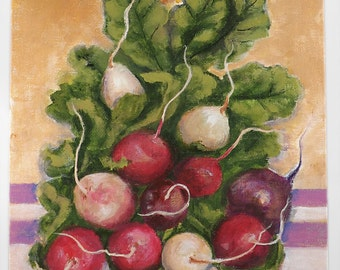 Easter Egg Radishes - an 8x10 original by Dianne Masters Hare