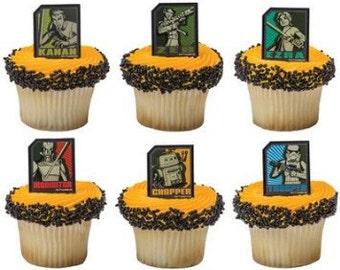 Star Wars Rebel cupcake rings/24 ctn