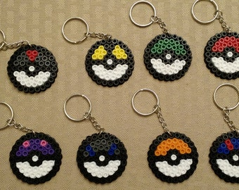 Pokeballs - Set of 8 keychains