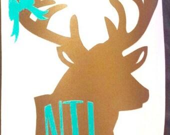 """4"""" Deer Head Monogram"""