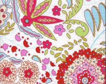 1 yard - Dena Designs Little Azalea Lantana in Red SALE FABRIC