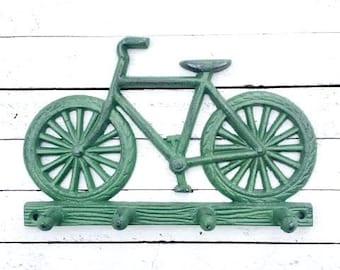 Ornate Cast Iron Bicycle Hook,Bike,Iron Wall Decor,Door Hook,Keys Hook,Door Hardware,Antique,Home and Garden,Black,Home Living,Cute