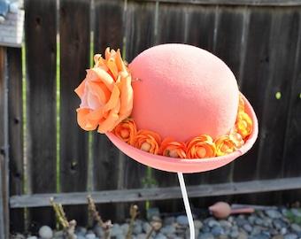 Pretty in Peach Derby Hat #1