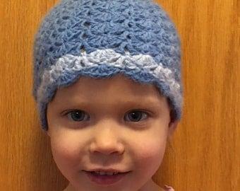 Crochet Shell Pattern Hat - Toddler