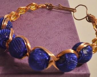 Copper Wire Blue Net Balls