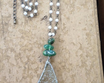 Whale Tale Seaglass Necklace