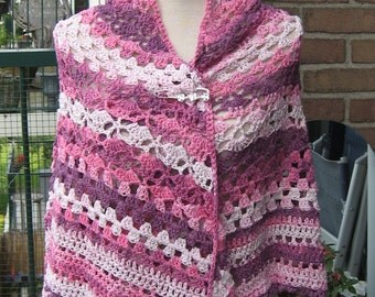 Pink wrap for autmn or spring/pink shawl for fall or spring