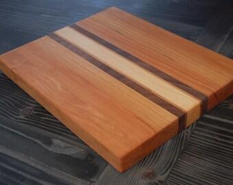 Cherry Edge Grain Hardwood Cutting Board