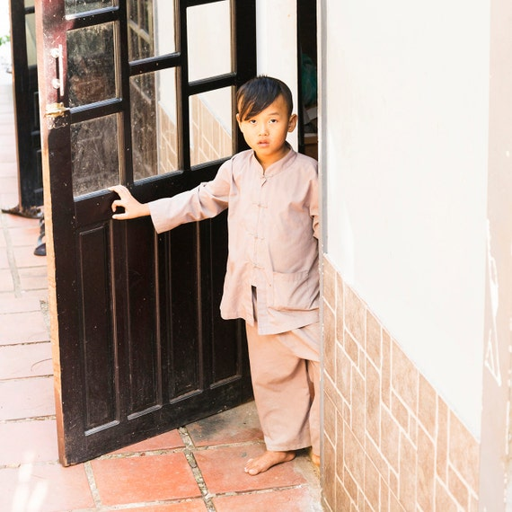 BOY MONK. Vietnam Picture, Boy Portrait, Travel Photography, Street Photography, Limited Edition, Photographic Print
