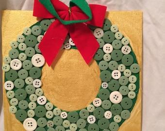 Button Wreath wall art