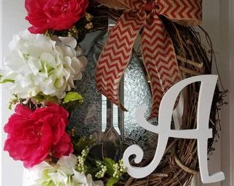 Spring/summer door wreath