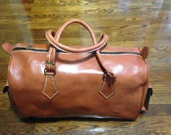 Big leather weekend bag