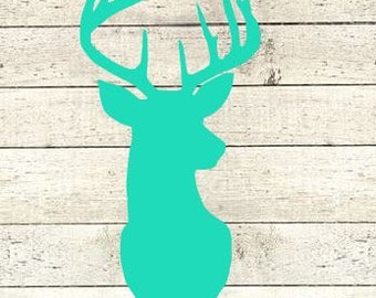 Deer Vinyl Decal  Yeti Decal   Ipad Decal  MacBook Decal  Window Decal  Track Pad Decal  Sticker Country girl