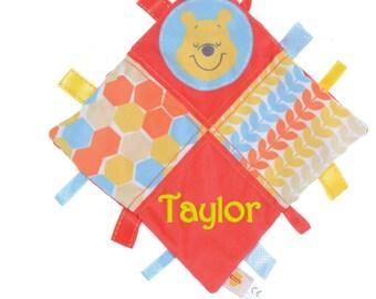 Personalised Winnie the Pooh Ribbon Comforter