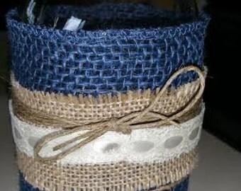 Country Style Mason Jar ( Quart Size)