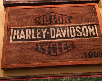 Vintage Harley Davidson sign