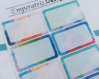 White seam halfboxes for planner,journal,ec,filofax