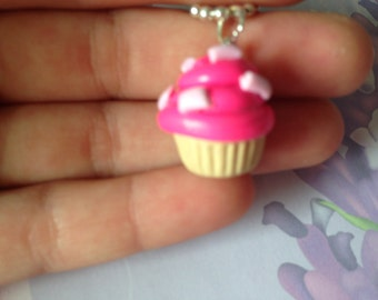 super cute necklace with cupcake