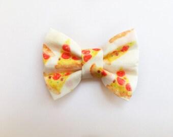 MINI Pizza Bow, baby headband, baby hair clip, hair bow, headband, hair clip, baby girl, girl toddler, baby gift