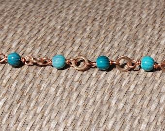 Enamel Wire Wrapped Bracelet