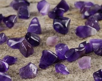 30g Purple AMETHYST Tumbled Stones - Polished Stones, Amethyst Quartz Crystal, Amethyst Crystal Jewelry, Healing Crystal Healing Stone E0069