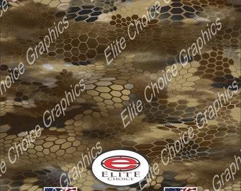"Chameleon Hex Desert 52""x6ft Wrap Vinyl Truck Camo Car SUV Tree Real Camouflage Sticker Decal"