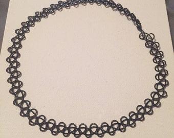 90s Tattoo Style Choker Necklace