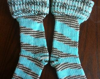 Sea taupe boot socks size 7