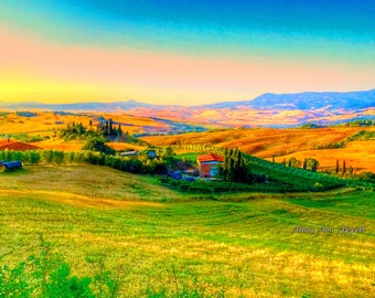 Photography Italy landscapes,, Italy travel, Tuscany Wall Art. On a day when light is perfect