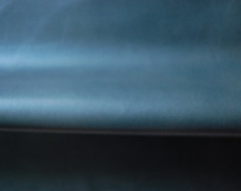 Sea Color Leather Hide 75cm x63cm Italian Semi Soft Blue Green Hide Genuine Leather Hide 0.5mm Thickness Sea Blue Leather Hide j8