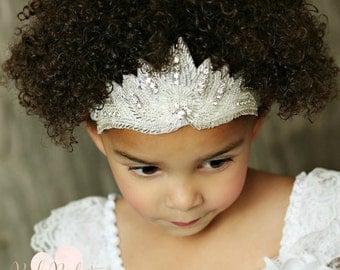 Crown Headband,Baby headbands, Rhinestone Headband, Princess Tiara headband, Baby Headband, Baby Birthday headband, Baby crown headband