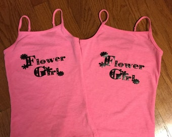 Flower girl iron on decal