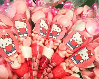 Hello Kitty candy sweet cones birthday party favours. Free UK Postage