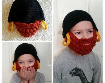 Crochet Bearded Hat