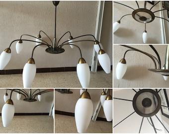 Superb chandelier vintage 8 branches