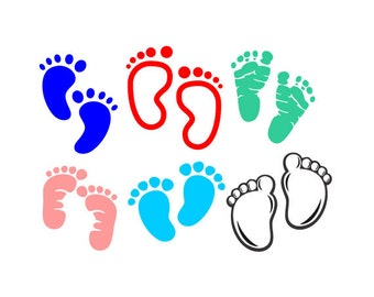 baby feet svg - svg files - silhouette files - baby svg - baby svg files