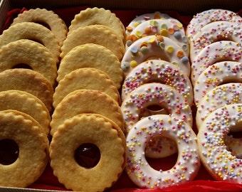Linzer cookies two dozen