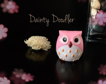 Cute Pink Owl Dual Sharpener / Stationery / Office / Desk / School / Beauty / Gift