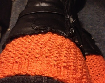 Hand Knit Seed Stitch Boot Cuffs