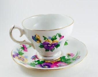 Fine Bone China , England, Matching Tea Cup and Saucer