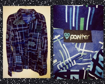 Vintage 80s polyester blouse