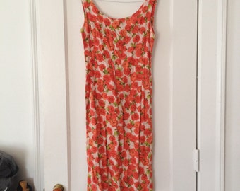 floral print Saks Fifth Avenue summer dress