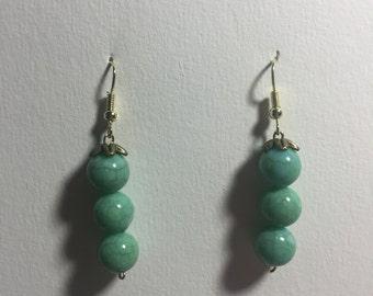 Peas in a pod earrings