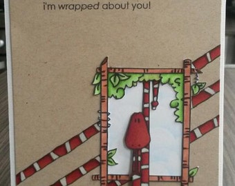 Handmade valentine / love card