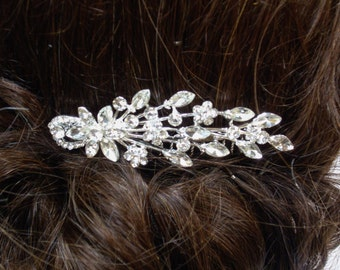 Flower Burst Diamante/Rhinestone Bridal Hair Comb
