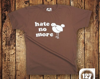 Men's T-shirt 'Hate No More' – Brown