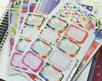 Sweet Roses Planner Sticker Kit