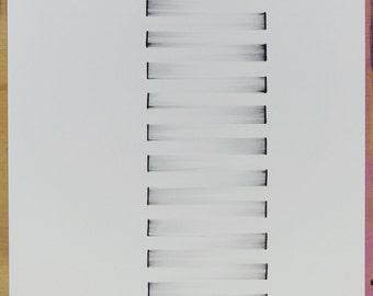 "original abstract ink drawing 9""x12"""